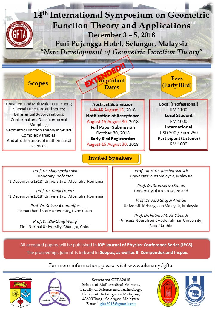 Call For Papers Gfta 2018